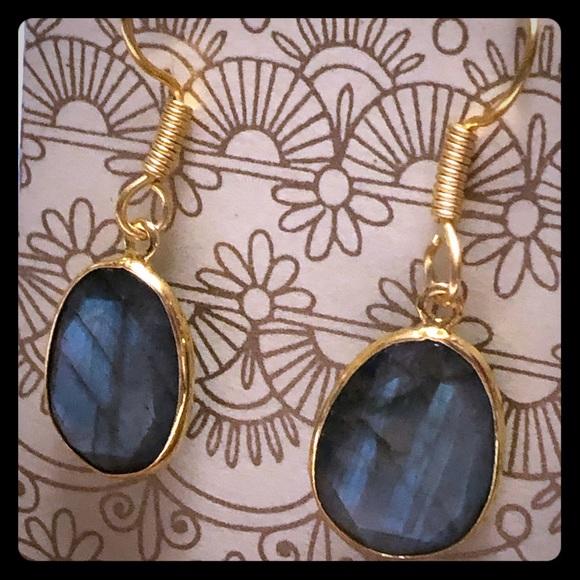 Gold plated Labradorite Earrings